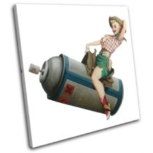 Cowgirl Banksy Painting - 13-0798(00B)-SG11-LO